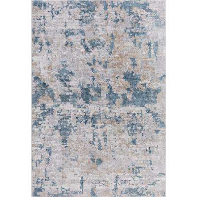 Hilamrose Blue Abstract 2 ft. x 3 ft. Accent Rug