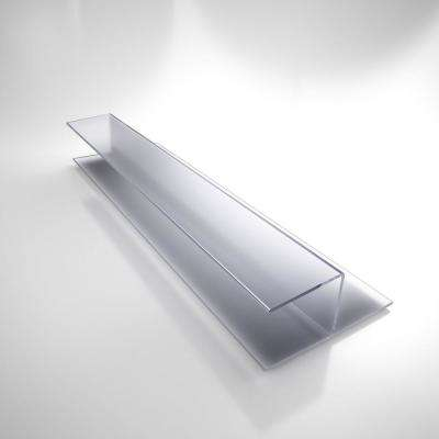 80 in. L x 3/8 in. W Clear Inline Strike Vinyl Glass Shower Door