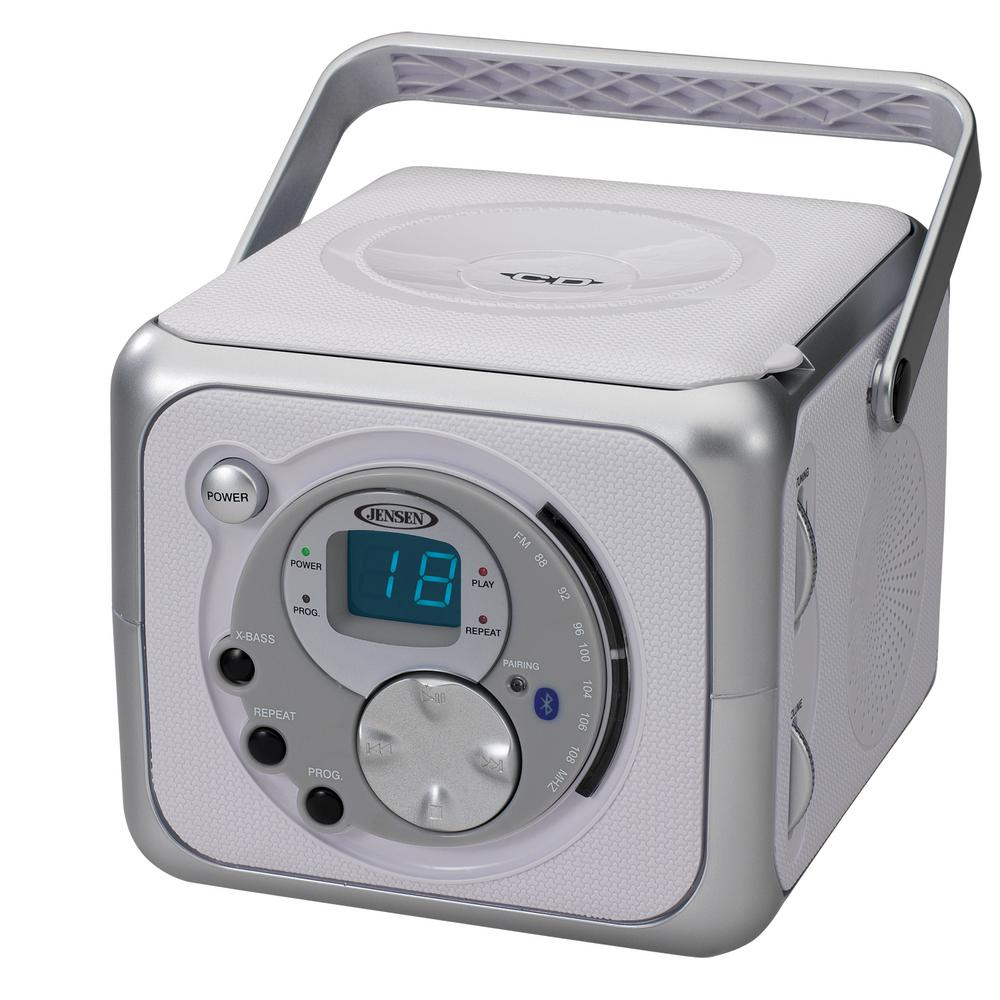 JENSEN Portable Bluetooth Music System with CD