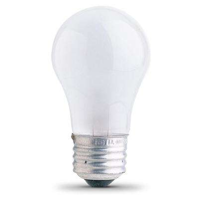 25-Watt Soft White (2700K) A15 Frosted Glass E26 Base Dimmable Incandescent Appliance Light Bulb (6-Pack)