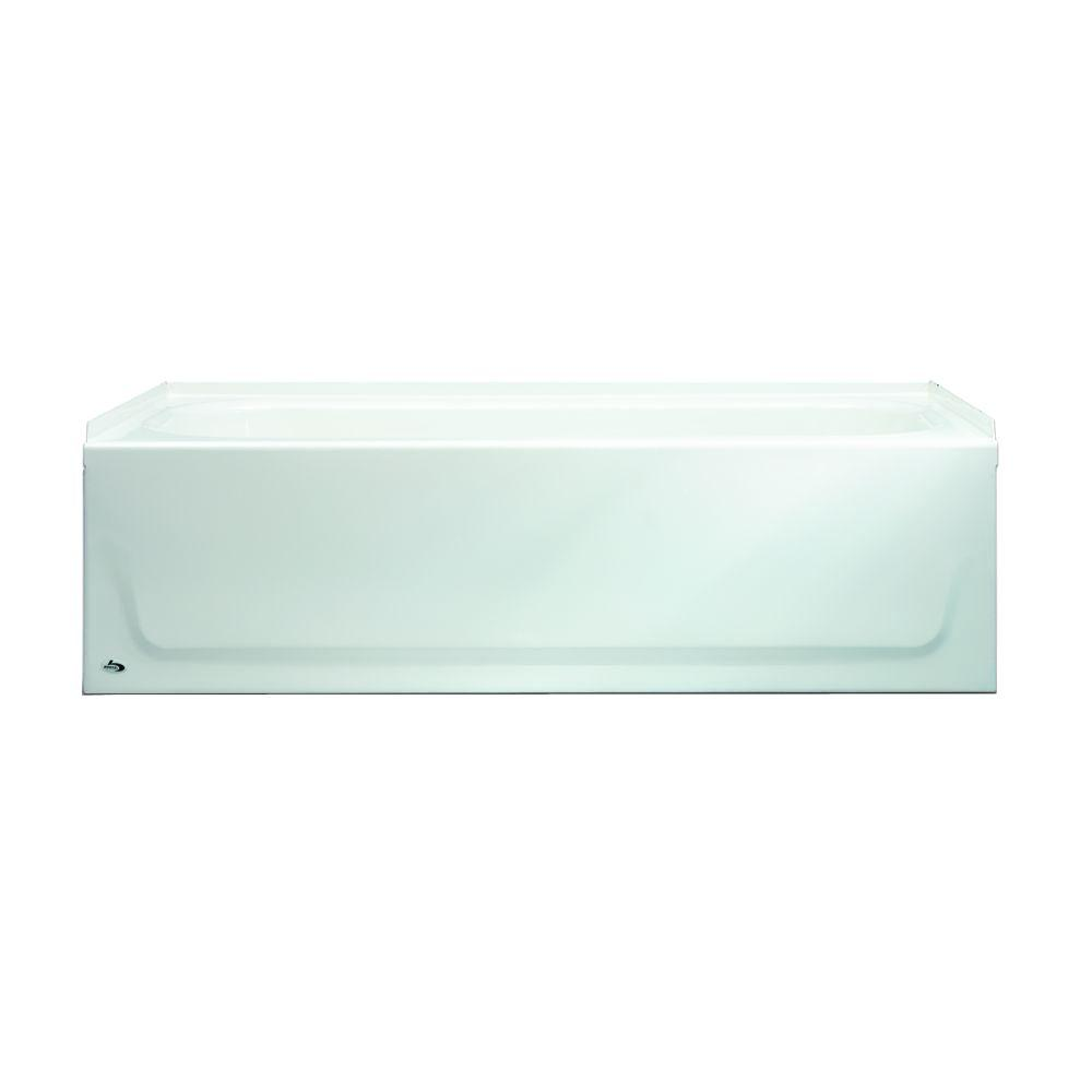 Aloha AFR 60 in. Right Drain Raised Outlet Rectangular Alcove Soaking