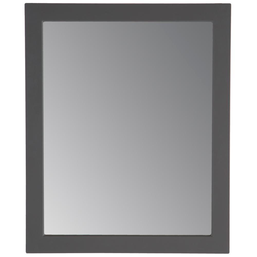 Thornbriar 26 in. W x 31 in. H Single Framed Wall Mirror in Cement