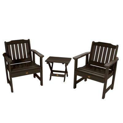 Lehigh Weathered Acorn 3-Piece Recycled Plastic Outdoor Conversation Set