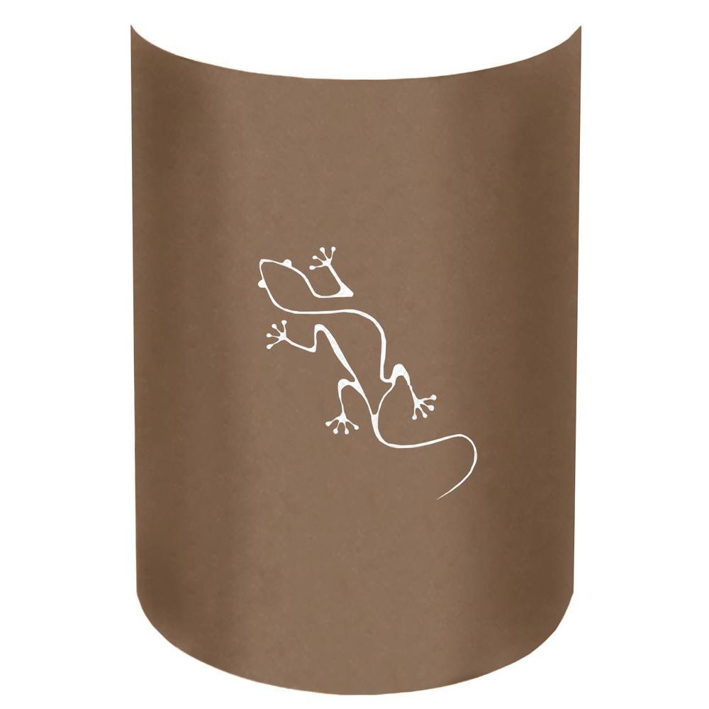Filament Design Aspen 1-Light Outdoor Rust Gecko Wall Sconce
