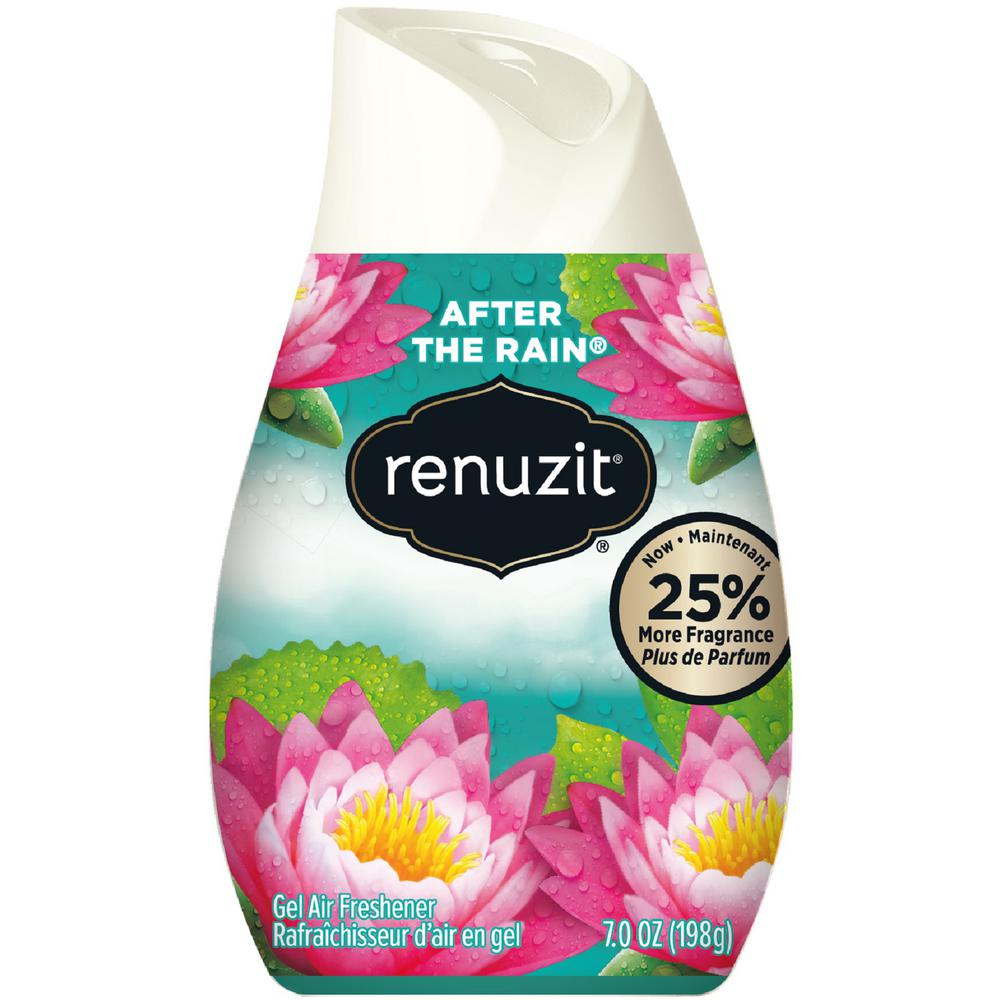 Cones. Renuzit Cone Air Fresheners are great for small spaces. They last for 30 days, and are made with 98% biodegradable gel. Adjust the cone to get the level of fragrance perfect for you.