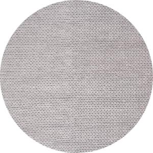 Caryatid Chunky Woolen Cable Light Gray 6 ft. Round Rug