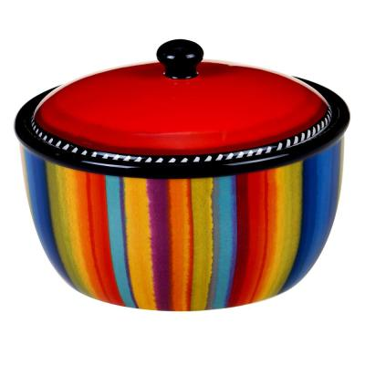 Sierra 8.25 in. Multicolored Bean Pot