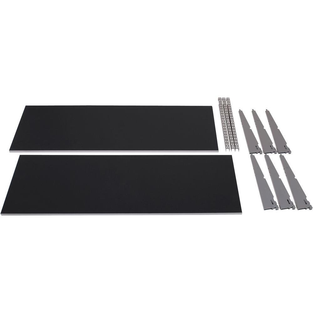 FastTrack Garage 2-Shelf 48 in. x 16 in. Laminate Shelving Kit