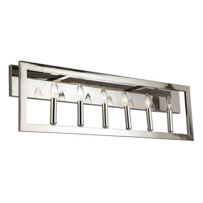Jordan .75 in. 6-Light Satin Nickel Vanity Light