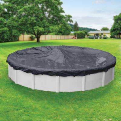 Economy 24 ft. Pool Size Round Blue Solid Above Ground Winter Pool Cover