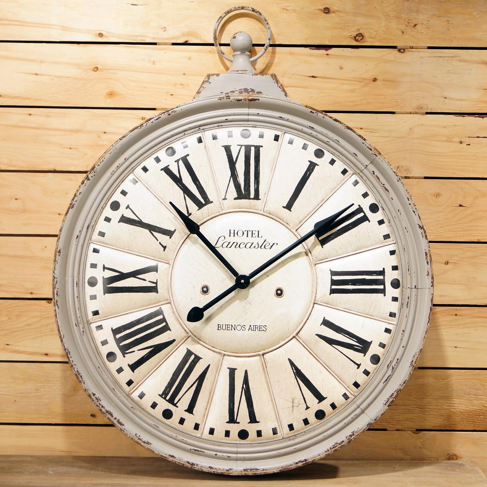36 in. Round Metal Wall Clock