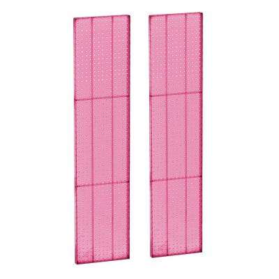 60 in. H x 13.5 in. W Pegboard Pink Styrene One Sided Panel (2-Pieces per Box)