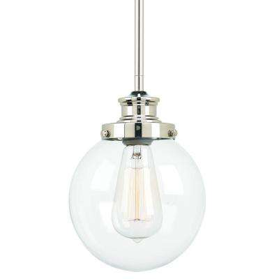 Penn Collection 1-Light Polished Nickel Mini Pendant with Clear Glass  sc 1 st  The Home Depot & Clear - Pendant Lights - Lighting - The Home Depot azcodes.com