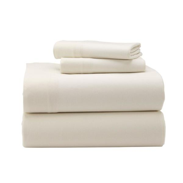 The Company Organic Cotton Jersey 3 Piece Natural Solid Twin Sheet Set