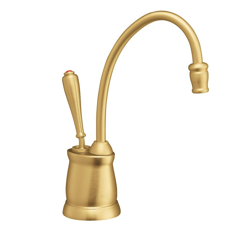 Superb Indulge Tuscan Single Handle Instant Hot Water Dispenser Faucet In Brushed