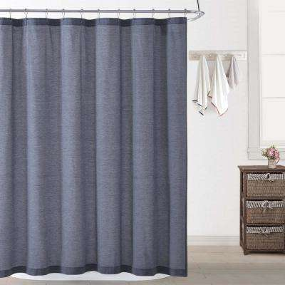 Chambray Coast Blue Shower Curtain