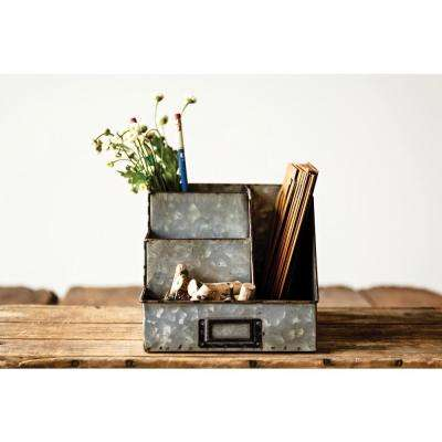 9-1/2 in. L Metal Desk Organizer