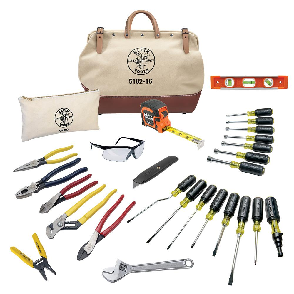 Klein Tools 28 Piece Electrician S Tool Set 80028 The Home Depot