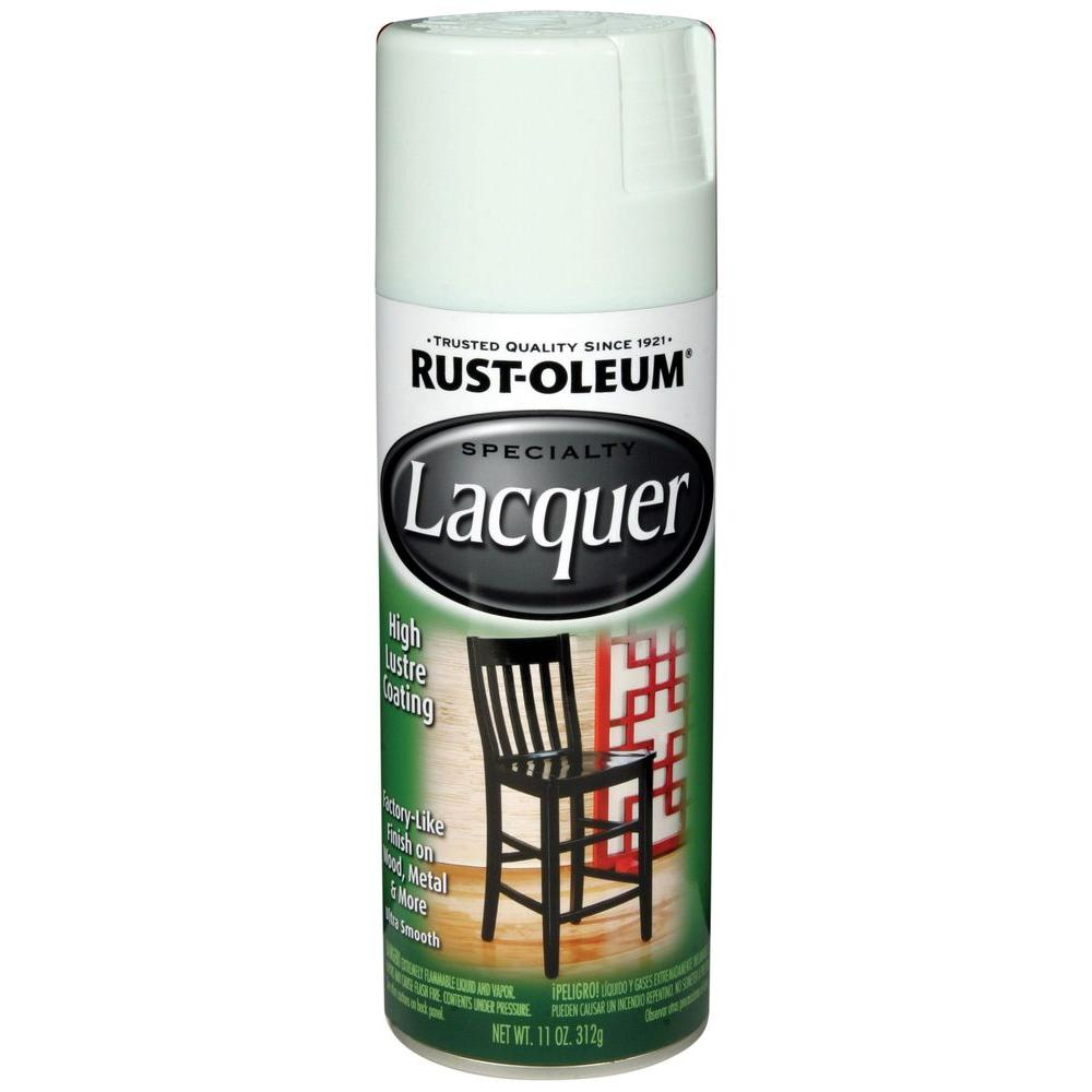 rust oleum specialty 11 oz gloss white lacquer spray