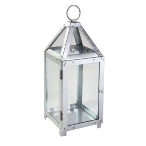 19.6 in. Galvanized Metal Lantern