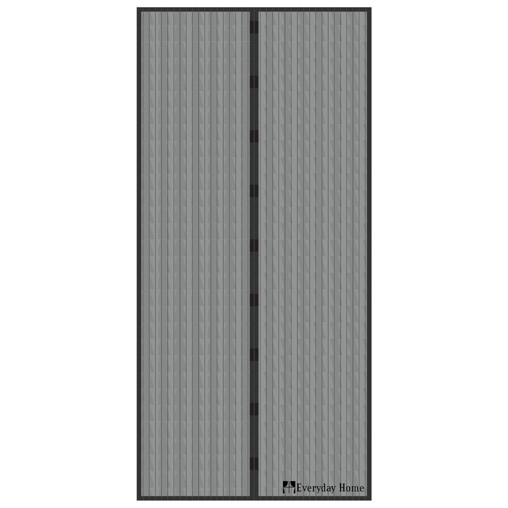 Everyday Home 38 In X 80 In Magnetic Screen Door With Heavy Duty Magnets And Mesh Curtain W150145 The Home Depot