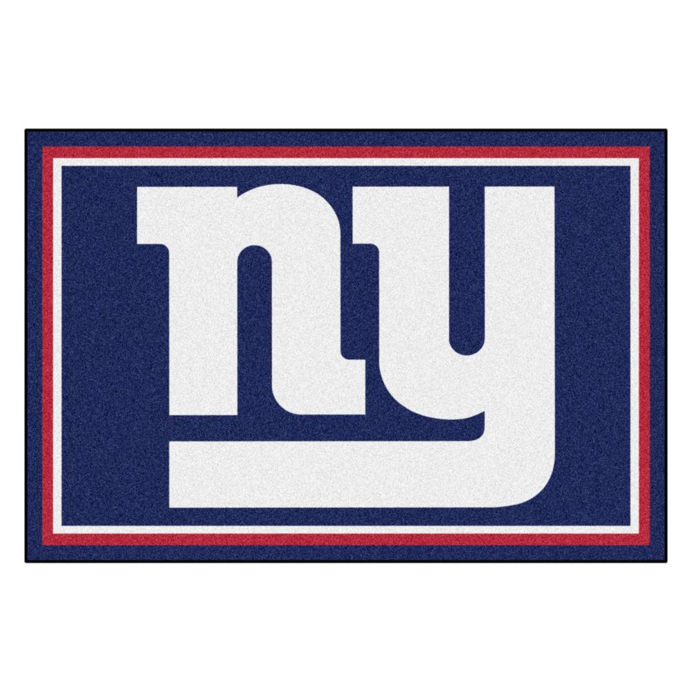 New York Giants 5 Ft X 8 Area Rug