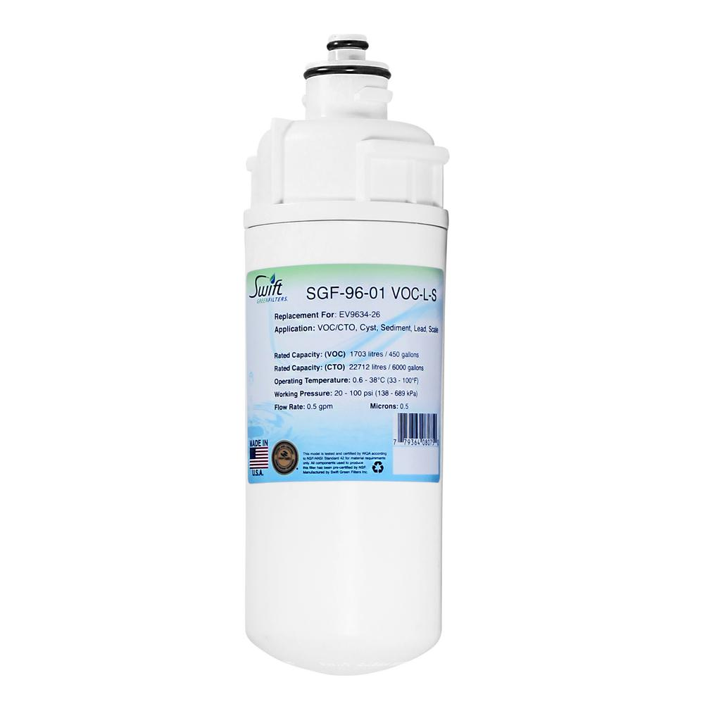SGF-96-01 VOC-L-S Replacement Water Filter for Everpure EV9634-26