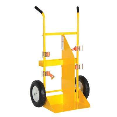58 in. Welding Cylinder Torch Cart with Pneumatic Wheel
