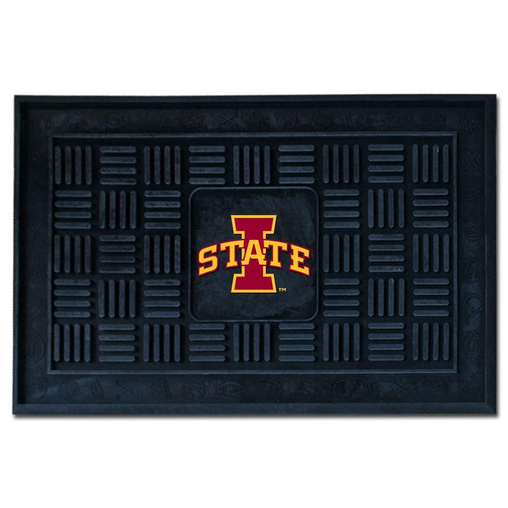 Ncaa Iowa State University 19 in. x 30 in. Vinyl Door Mat, Black