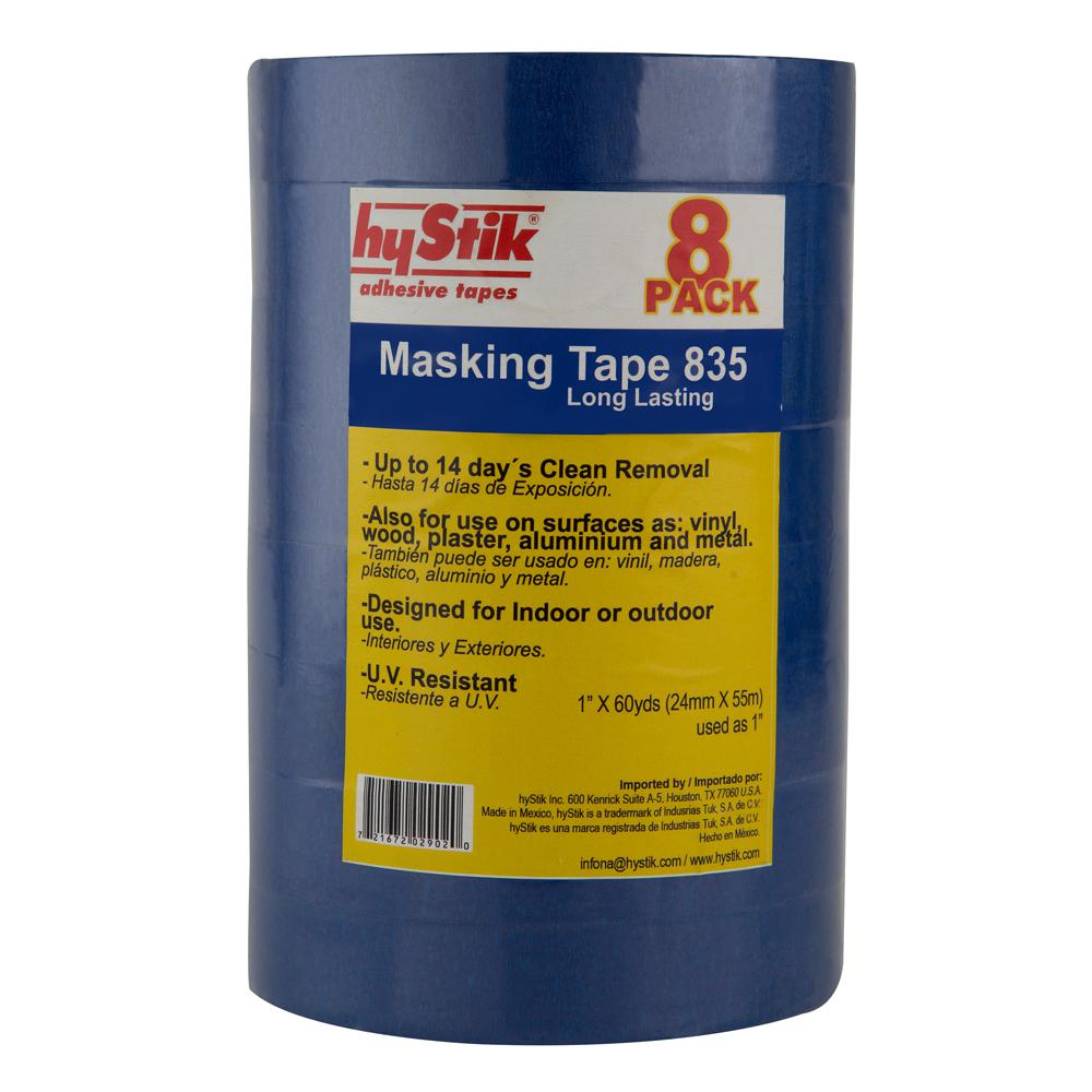 hyStik 835 1 in. x 60 yds. Painter's Tape (8-Pack)