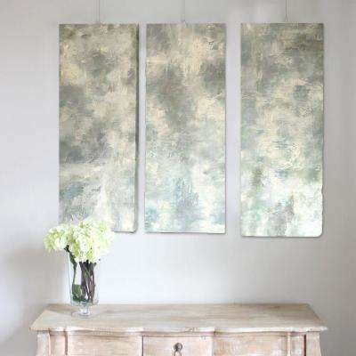 "36 in. x 14 in. x 2 in. ""Serenity"" by Unnamed Artist Hand Painted Canvas Wall Art Set of 3"