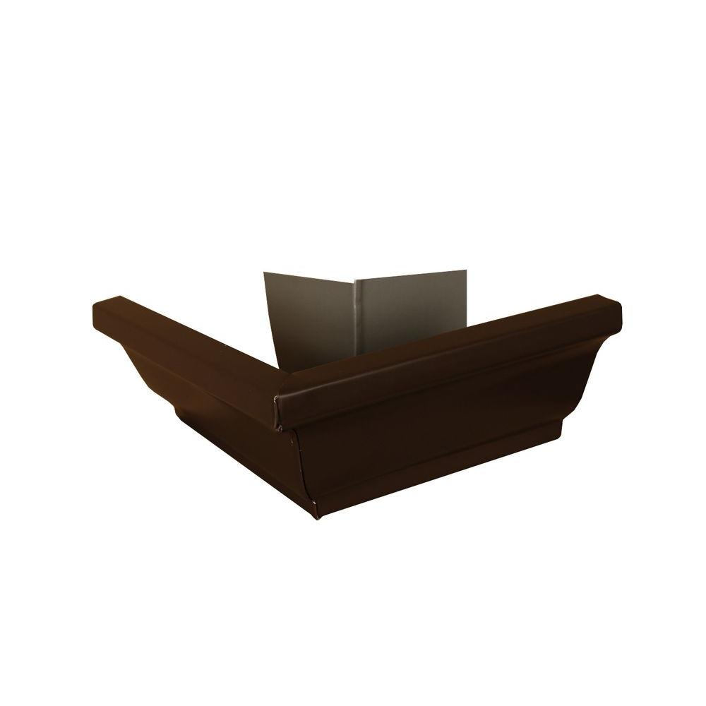 Amerimax Home Products 5 in. Musket Brown A Aluminum Outside Miter Box