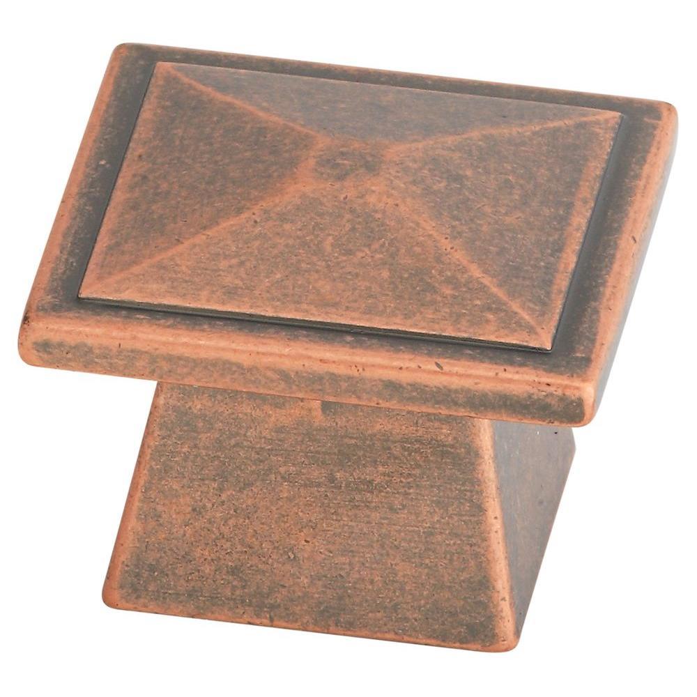 Stanley-National Hardware Prairie 1-2/7 in. Antique Copper Cabinet Knob-DISCONTINUED