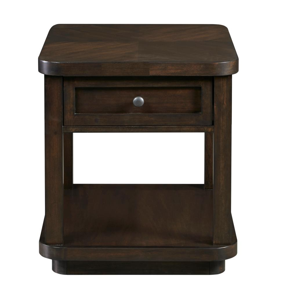 24 in. Grove Park Chocolate and Mahogany End Table