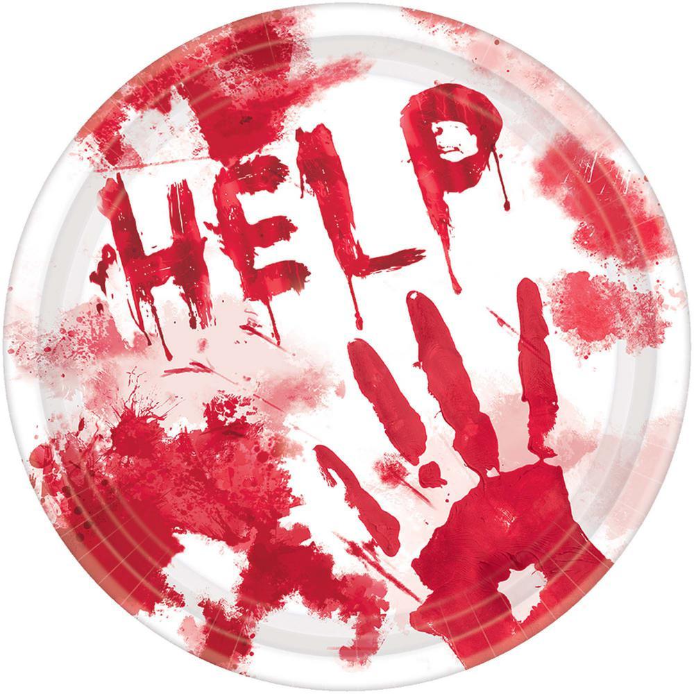 halloween blood splattered plates 18 count