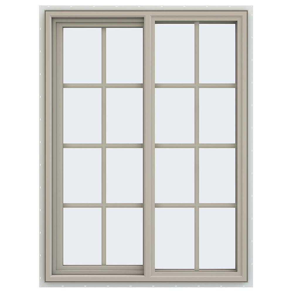 Jeld wen 35 5 in x 47 5 in v 4500 series left hand for Vinyl window designs reviews
