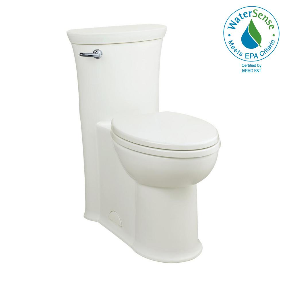 Tropic 1-piece 1.28/1.6 GPF Single Flush Elongated Toilet in White