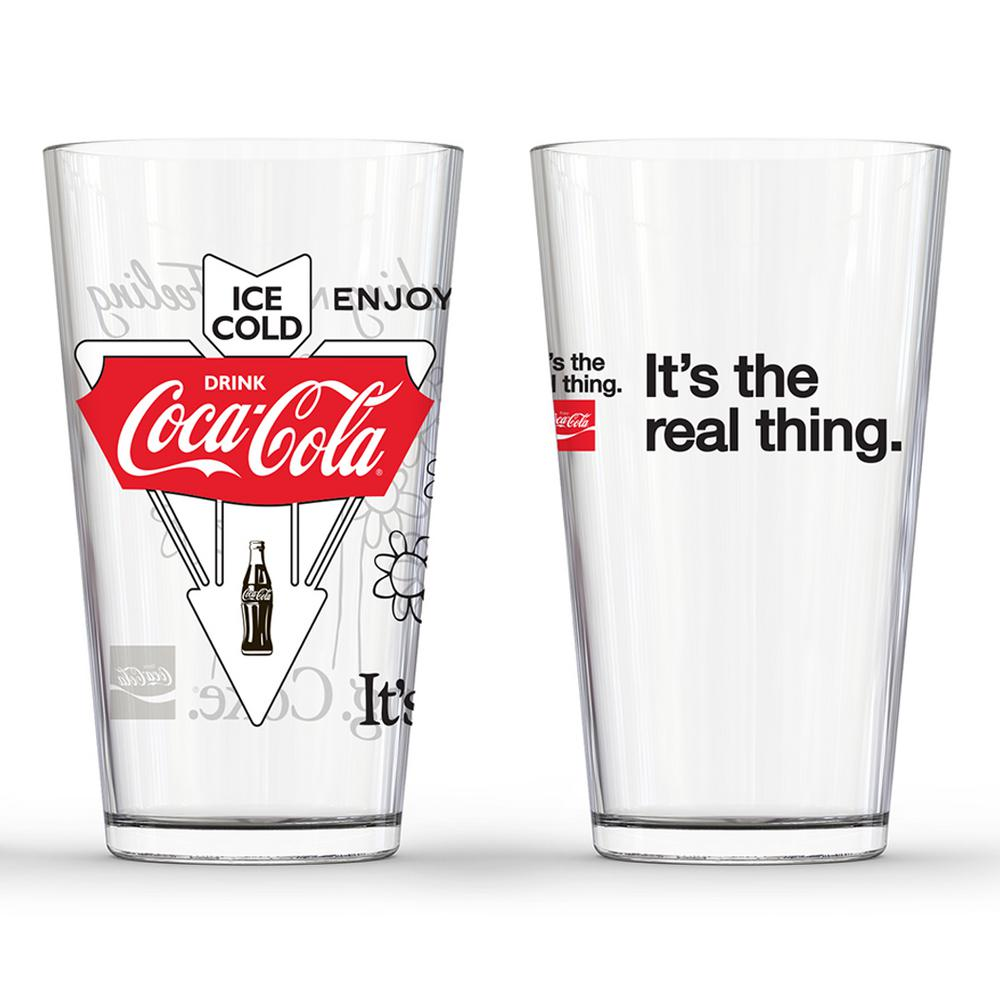 Classic Logos Pub Glasses (Set of 2)