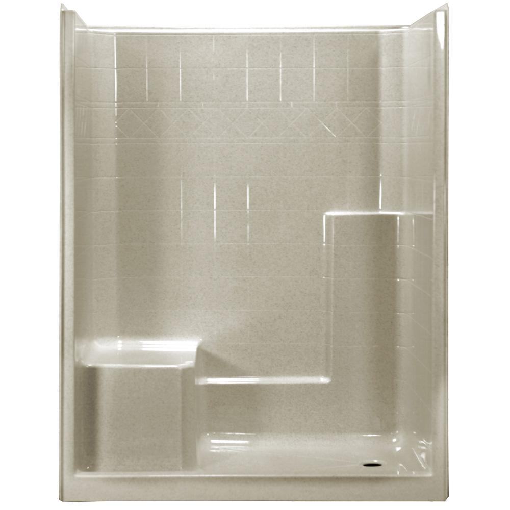 Ella 60 In X 33 In X 77 In 1 Piece Low Threshold Shower