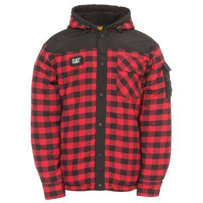 Sequoia Men's 2X-Large Red Buffalo Plaid Cotton Shirt Jacket