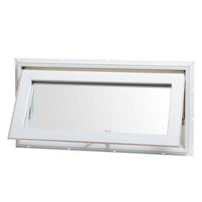 awning style windows basement awning vinyl window with screen white hopper windows the home depot
