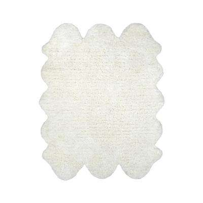 Sexto Pelt Faux Sheepskin Natural 4 ft. 9 in. x 6 ft. Area Rug