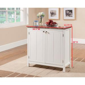 Kings Brand Furniture White with Marble Finish Top Kitchen ...