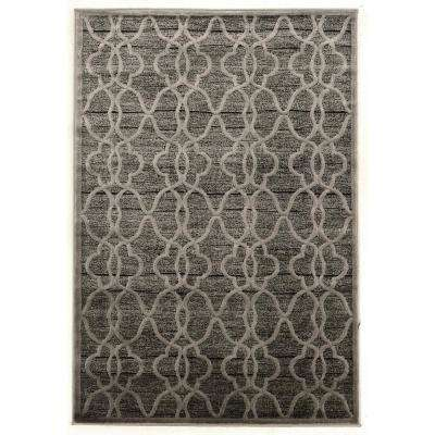 Platinum Raw Iron Gray and Black 8 ft. x 11 ft. Rectangle Area Rug
