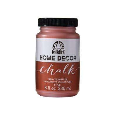 Home Decor 8 oz. Salmon Coral Ultra-Matte Chalk Finish Paint