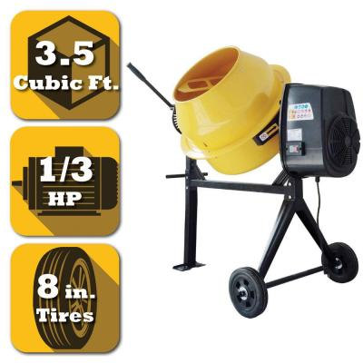 3.5 cu. ft. 1/3 HP Contractor Duty Cement and Concrete Mixer