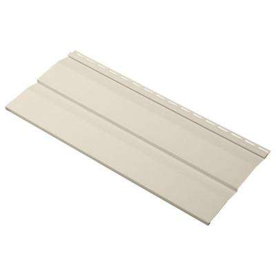 Progressions Double 5 in. x 24 in. Dutch Lap Vinyl Siding Sample in Sand