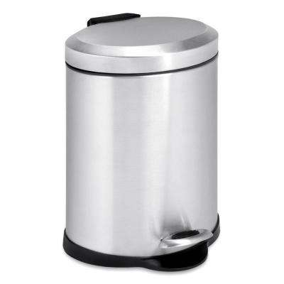 1 Gal. Stainless Steel Oval Step-On Touchless Trash Can