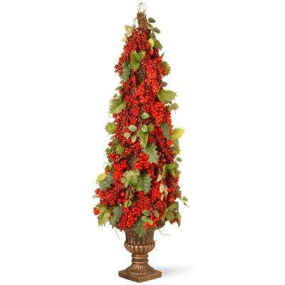 33 in. Holly and Berry Tree