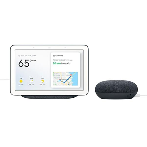 Nest Hub 7'' Smart Display Charcoal + Nest Mini (2nd Gen) Smart Speaker Charcoal